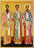 Ikone der drei Hierarchs Stockbilder