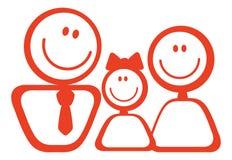 Ikone der glücklichen Familie Lizenzfreies Stockfoto