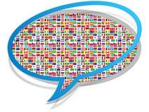 Ikone der globalen Kommunikation Stockfotos