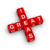 Ikone der großartigen Ideen Lizenzfreie Stockfotografie