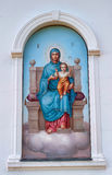 Ikone der Jungfrau und des Kindes Stockbilder