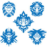 Ikone der Löwe Lizenzfreies Stockbild