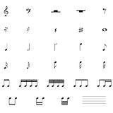 Ikone der musikalischen Anmerkung Stockfotos