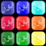 Ikone der musikalischen Anmerkungen Stockbild