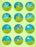 Ikone der reinen Natur Lizenzfreie Stockbilder