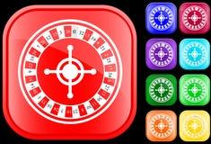 Ikone der Roulette stock abbildung