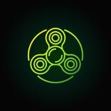 Ikone der Spinnergrünen grenze Lizenzfreies Stockfoto