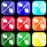 Ikone der Sushirollen Lizenzfreie Stockbilder