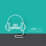 Ikone der technischen Unterstützung Lizenzfreies Stockbild