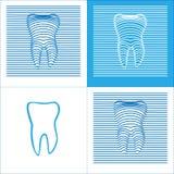 Ikone der Zahn-Plakat-Stomatologie-3D vektor abbildung