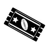 Ikone des amerikanischen Fußballs des Schattenbildkartenspiels stock abbildung