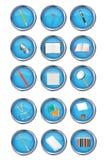 Ikone des Briefpapiers Stockfotos