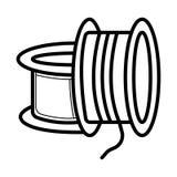 Ikone des Druckes 3d lizenzfreie abbildung