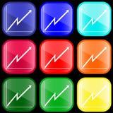 Ikone des Geschäftsdiagramms   Lizenzfreies Stockbild