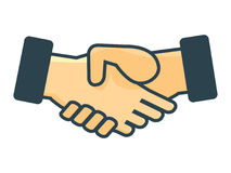 Ikone des Händeschüttelns, Grafikdesign - Vector Illustration Lizenzfreie Stockfotos