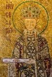 Ikone des Heiligen Irina im Innenraum von Hagia Sophia - größtes monum Lizenzfreies Stockfoto