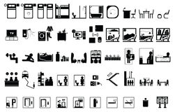 Ikone des Hotels 50 Lizenzfreie Stockfotografie