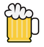Ikone des kalten Bieres stock abbildung