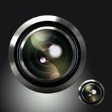 Ikone des Kameraobjektivs Stockfoto