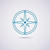 Ikone des Kompassses Lizenzfreies Stockbild