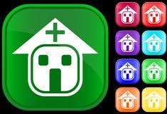 Ikone des Krankenhauses lizenzfreie abbildung