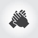 Ikone des Menschen übergibt Applaus Stockfotos