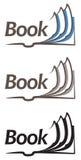 Ikone des offenen Buches Stockfotografie