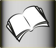 Ikone des offenen Buches Lizenzfreie Stockfotografie