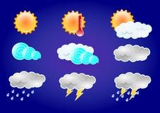Wetter-Ikone Lizenzfreies Stockfoto