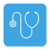 Ikone des Stethoskopmedizinischen geräts Lizenzfreies Stockbild