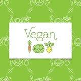 Ikone des strengen Vegetariers und Logokonzept in einer Linie Kunstart stock abbildung