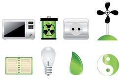 Ikone des Vektor 3d (Energie) Stockbild
