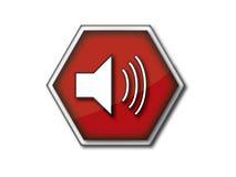 Stoppen Sie Geräuschikone Lizenzfreie Stockfotografie