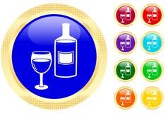 Ikone des Weins Lizenzfreies Stockfoto