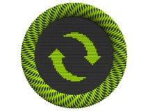 Ikone, die mit 2 Pfeilen aufbereitet Stockbild