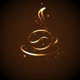 Ikone einer Kaffeetasse, Vektorillustration Stockfotos