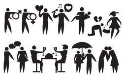 Ikone eines Paar-Verhältnisses Lizenzfreie Stockfotos