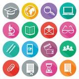 Ikone eingestellt für Berufsausbildung und Elearning Lizenzfreies Stockfoto
