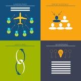 Ikone eingestellt für Netz und Suchmaschinen-Optimierung Stockfotos