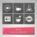 Ikone eingestellt: Kleine Fische vektor abbildung