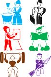 Ikone für Angestellten Lizenzfreie Stockbilder