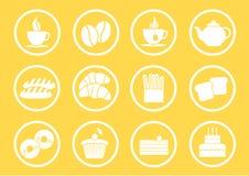 Ikone für Bäckerei Lizenzfreie Stockfotos