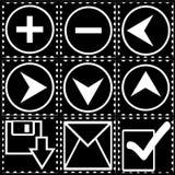 Ikone für Computer des Stempels Lizenzfreie Stockfotos