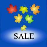 Ikone für den Verkauf bis zum Herbst Lizenzfreie Stockfotos
