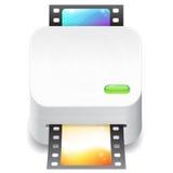 Ikone für Filmeingabeeinheit Stockbild
