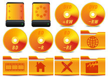 Ikone für Operationssystem stellte 3 von 4 ein Stockfotografie