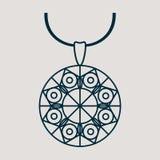Ikone für Schmuckwaren wie klassische Halskette lizenzfreie abbildung