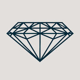 Ikone für Schmuckwaren wie klassischen Diamanten vektor abbildung