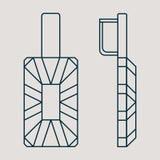 Ikone für Schmuckwaren wie Ohrringe lizenzfreie abbildung