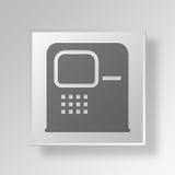 Ikone Geschäfts-Konzept ATM-3D stock abbildung